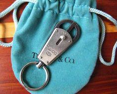 TIFFANY & CO SILVER VINTAGE SILVER KEY RING 925 SILVER & METAL KEY RING  #TiffanyCo