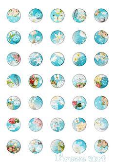 Digital Collage Sheet - 1 inch Circle