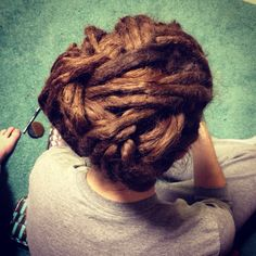 Dreadlocks, dreads, updo, style omg i wish i could do this