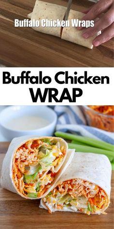 Chicken Wrap Recipes, Recipes For Wraps, Easy Wrap Recipes, Easy Recipes For Lunch, Healthy Chicken Wraps, Healthy Rotisserie Chicken Recipes, Recipes For Leftover Chicken, Quick Easy Lunch Ideas, Turkey Wrap Recipes