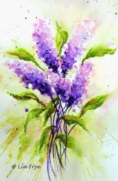 Lilacs #watercolorarts