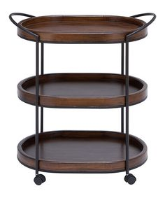 Look what I found on #zulily! Wood Three-Tier Rolling Shelf #zulilyfinds