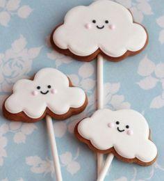 Smiley cloud cookies
