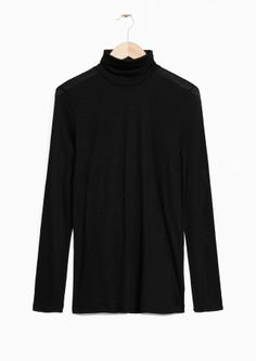& Other Stories image 1 of Thin Turtleneck in Black