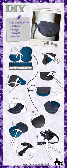 DIY belt bag / riem tas (dutch)