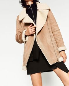 OVERSIZED SUEDE-EFFECT JACKET-Coats-OUTERWEAR-WOMAN | ZARA United States