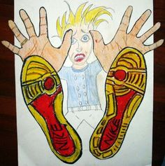 Teach your fourth grader foreshortening, a type of visual perspective in art with this fun and easy activity!