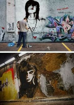 how they make that it look like a real picture but it is graffiti