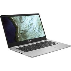 "Asus C423NA Chromebook 14"" HD Laptop (Intel Dual Core Celeron Processor N3350, 4GB DDR4 RAM, 64GB SSD) Webcam, WiFi, Bluetooth, Type-C, Google Chrome OS - Silver (Renewed) 180 Degree Hinge, Bluetooth, Ddr4 Ram, Laptops For Sale, Asus Laptop, Intel Processors, Immersive Experience, Stereo Speakers, Chromebook"