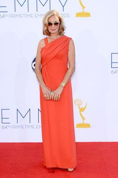 Jessica Lange was perfection in a coral gown.