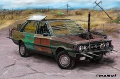 post apocalyptic car by mamut077.deviantart.com on @DeviantArt