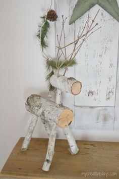 2014 Christmas Home Tour - mycreativedays Christmas Wood Crafts, Noel Christmas, Outdoor Christmas, Christmas Projects, Simple Christmas, Holiday Crafts, Christmas Holidays, Christmas Decorations, Christmas Ornaments