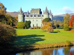 Inveraray Castle dates from the 18th century and is home to the Duke of Argyll, Chief of Clan Campbell, whose family have lived in Inveraray for over five centuries. With its large turretted corner towers, the castle has something of a fairytale aspect which belies the grandeur of the interior. Inveraray, Argyll, Scotland, UK