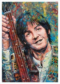 Paul McCartney of a little British band the Beatles art print 10/250 of painting
