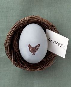 Egg and nest. Idea for seating arrangements