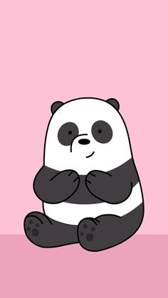 35 images about we bare bears. 🐻 on we heart it see more abo Cute Panda Wallpaper, Funny Iphone Wallpaper, Bear Wallpaper, Cute Disney Wallpaper, Kawaii Wallpaper, Cute Wallpaper Backgrounds, We Bare Bears Wallpapers, Panda Wallpapers, Cute Cartoon Wallpapers