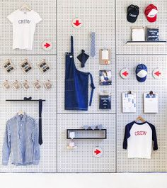 Playful Pegboard Visual Merchandising by Cargo Crew: