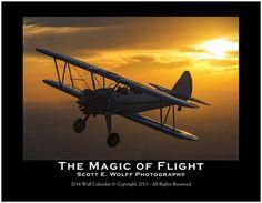 The Magic of Flight 2014 Wall Calendar, Scott E. Wolff Photography on Etsy, $19.99