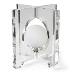 Jonathan Adler Table Lamp - Lucite Furniture That Sparkles Lucite Furniture, Luxury Furniture, Crystal Decor, Modern Lighting, Lighting Ideas, Lighting Design, Candlesticks, Jonathan Adler, Lights