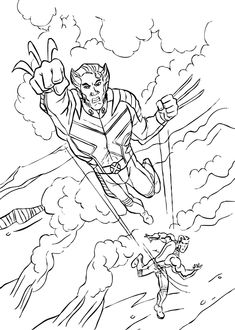 Free Superhero Printables Wolverine coloring pages Superhero