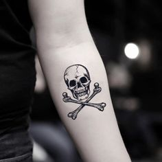 Skull and Crossbones Temporary Tattoo Sticker (Set of skull tattoo Pirate Skull Tattoos, Small Skull Tattoo, Skull Hand Tattoo, Skeleton Tattoos, Sugar Skull Tattoos, Small Tattoos, Tattoos For Guys, Hand Tattoos, Body Art Tattoos