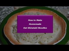 Use this recipe, along with the preparation instructions shown in this video to make your own oat shirataki noodles. 2-1/2 US cups water (600 mL) 3 US Tables...
