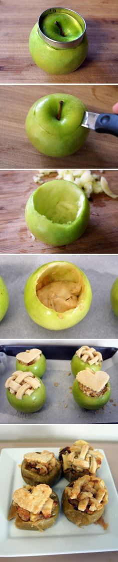 Cake Baked in Fresh Apples | Recipe By Photo