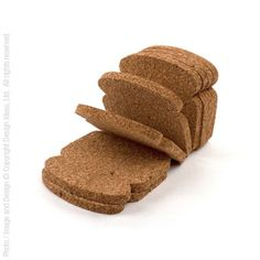 Developed by an up-and-coming Brazilian designer, our ToastIt coasters play on words, shapes, and materials. The toast-like high quality natural cork material protects your table surface from moisture