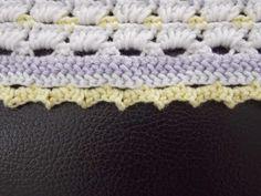 Randje dekentje (met link naar gratis patroon) / border blanket (with link to free pattern) Baby Born, Free Pattern, Beanie, Diy Crafts, Knitting, Crochet, Hats, Accessories, Link