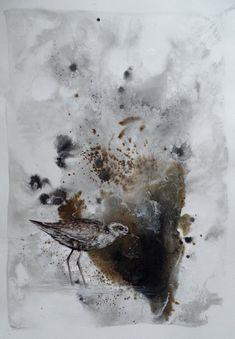 """Uncaged VIII"" Figurative Art, Paper Art, My Arts, Joy, Birds, Abstract, Artwork, Painting, Outdoor"