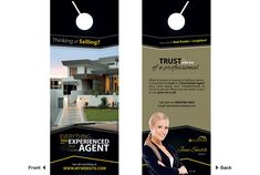Fantastic Free of Charge Real Estate Door Hangers Ideas Your individual door hanger Sure, the classic is needless to say the door pendant, by which on the l Real Estate Ads, Real Estate Office, Real Estate Flyers, Real Estate Marketing, Door Hanger Printing, Door Hanger Template, Real Agent, Classic Doors, What About Tomorrow