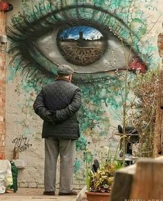 Amazing Street Art by Murals Street Art, Graffiti Murals, Street Art Graffiti, Illusion Kunst, Illusion Art, Collage Art Mixed Media, Amazing Street Art, Art For Art Sake, Eye Art