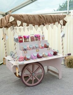 Catering a wedding - candy cart Candy Bar Wedding, Wedding Sweets, Candy Table, Candy Buffet, Birthday Party Decorations, Wedding Decorations, Wedding Ideas, Diy Wedding, Wedding Poses