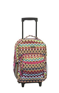 Rockland 17 Inch Rolling Backpack Tribal One Size * Learn more by visiting the image link.