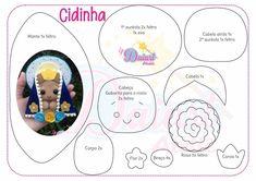 Molde de Nossa Senhora para artesanato - Feltro e moldes para artesanato Rustic Shabby Chic, Crochet, Blog, Craft Items, Animal Templates, Crafts, Diy, Dolls, Garlands