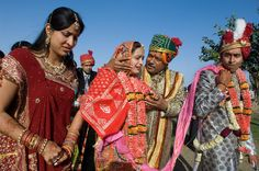Wedding, Rajasthan, India / Photography by Steve McCurry / Here you can download Steve's FREE PDF Catalog and order PRINTS /stevemccurry.com/...