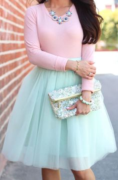 Shabby Apple Mint Tulle Bloom Skirt I want this skirt!!!