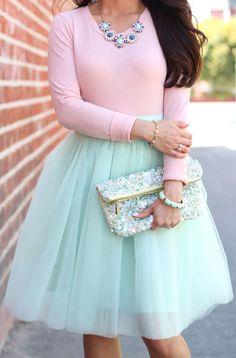 Shabby Apple Mint Tulle Bloom Skirt I want this skirt!!!
