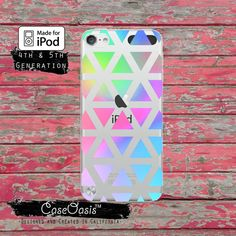 Pastel Triangle 80's Geometric Pattern Neon Tumblr by CaseOasis