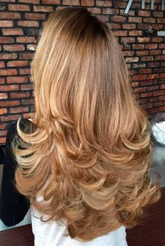 80 Cute Layered Hairstyles and Cuts for Long Hair, Long Flicked Layered Hairstyle. Haircuts For Long Hair With Layers, Long Layered Haircuts, Long Hair Cuts, Hairstyles With Bangs, Braided Hairstyles, Cool Hairstyles, Layered Hairstyles, Feathered Hairstyles, Wedding Hairstyles