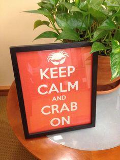 Keep Calm and Crab On Print. $9.99, via Etsy.