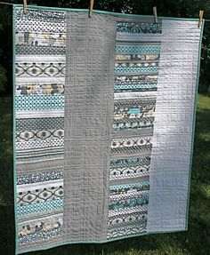 Modern Baby Quilt by jodyjean on Etsy