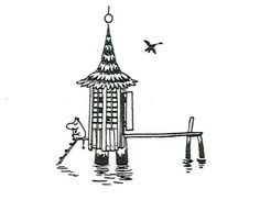 "Loneliness moomintrivia: "" Loneliness is one of the key themes in Moomin books. Tove Jansson was very familiar with this experience. Moomin Tattoo, Moomin Valley, Tove Jansson, Tattoo Illustration, Dream Tattoos, Painting Inspiration, Fairy Tales, Artsy, Graphic Design"