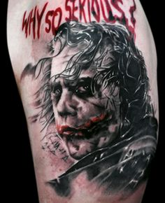Check out this Joker Tattoo... Why so serious? #tattoo