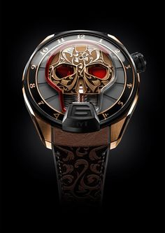 Bold face: HYT $90,000 Skull Red Eye indicates hours but not minutes.