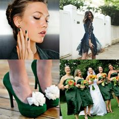 makeup dark green per un matrimonio primavera e estate