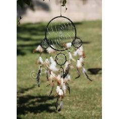 Genuine Black and Silver Native American Dreamcatcher