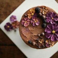 chocolate mud flower cake #플라워케이크클래스 #flowercakeclass #flowercake #florist…