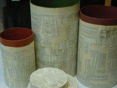 latas e jornal