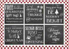 Christmas Chalkboard Gift Tags...FREE printable! simplykierste.com